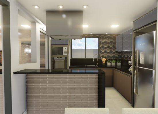 Vista frontal Cozinha